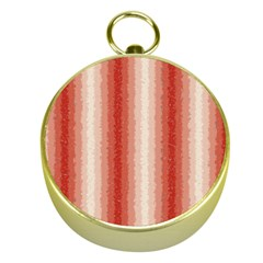Red Curly Stripes Gold Compass