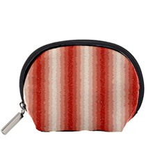 Red Curly Stripes Accessory Pouch (small)