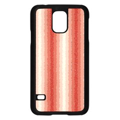 Red Curly Stripes Samsung Galaxy S5 Case (Black)