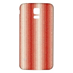 Red Curly Stripes Samsung Galaxy S5 Back Case (white)