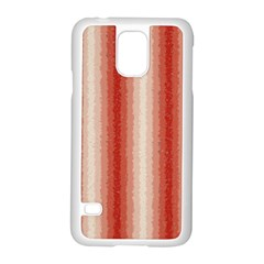 Red Curly Stripes Samsung Galaxy S5 Case (White)