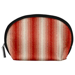 Red Curly Stripes Accessory Pouch (large)