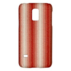 Red Curly Stripes Samsung Galaxy S5 Mini Hardshell Case