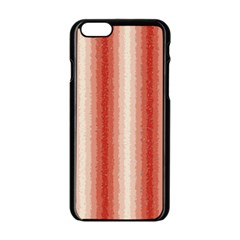 Red Curly Stripes Apple Iphone 6 Black Enamel Case