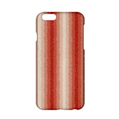 Red Curly Stripes Apple Iphone 6 Hardshell Case