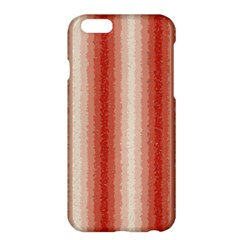 Red Curly Stripes Apple Iphone 6 Plus Hardshell Case
