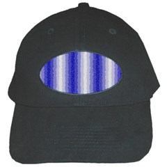 Dark Blue Curly Stripes Black Baseball Cap