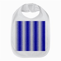 Dark Blue Curly Stripes Bib