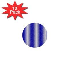 Dark Blue Curly Stripes 1  Mini Button (10 Pack)
