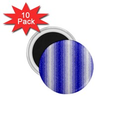 Dark Blue Curly Stripes 1 75  Button Magnet (10 Pack)