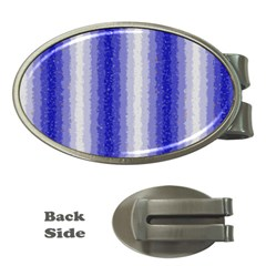 Dark Blue Curly Stripes Money Clip (Oval)