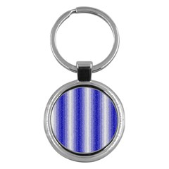 Dark Blue Curly Stripes Key Chain (round)