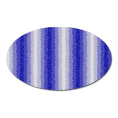 Dark Blue Curly Stripes Magnet (oval)