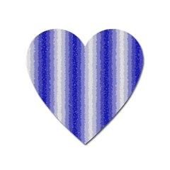 Dark Blue Curly Stripes Magnet (heart)