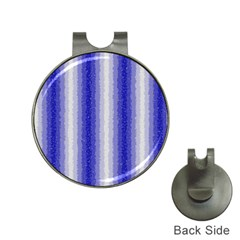 Dark Blue Curly Stripes Hat Clip with Golf Ball Marker