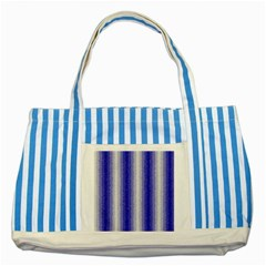 Dark Blue Curly Stripes Blue Striped Tote Bag