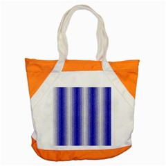 Dark Blue Curly Stripes Accent Tote Bag