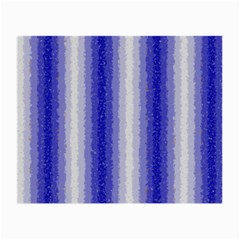 Dark Blue Curly Stripes Glasses Cloth (Small, Two Sided)