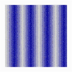 Dark Blue Curly Stripes Glasses Cloth (medium, Two Sided)