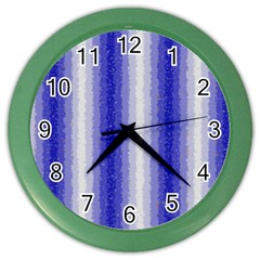 Dark Blue Curly Stripes Wall Clock (Color)