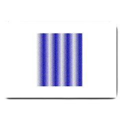 Dark Blue Curly Stripes Large Door Mat