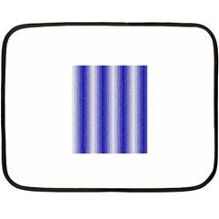 Dark Blue Curly Stripes Mini Fleece Blanket (Two Sided)