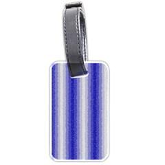 Dark Blue Curly Stripes Luggage Tag (two Sides)