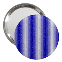 Dark Blue Curly Stripes 3  Handbag Mirror