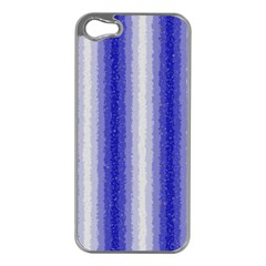 Dark Blue Curly Stripes Apple Iphone 5 Case (silver)