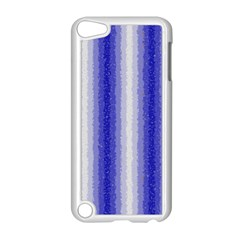 Dark Blue Curly Stripes Apple Ipod Touch 5 Case (white)
