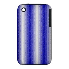 Dark Blue Curly Stripes Apple iPhone 3G/3GS Hardshell Case (PC+Silicone)