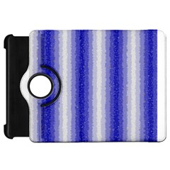 Dark Blue Curly Stripes Kindle Fire HD Flip 360 Case
