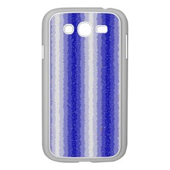 Dark Blue Curly Stripes Samsung Galaxy Grand DUOS I9082 Case (White)
