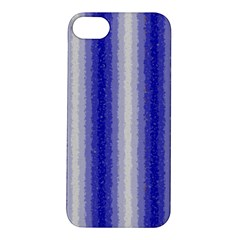 Dark Blue Curly Stripes Apple iPhone 5S Hardshell Case