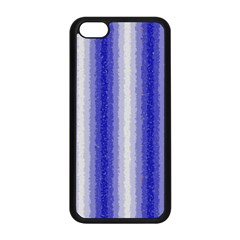Dark Blue Curly Stripes Apple iPhone 5C Seamless Case (Black)