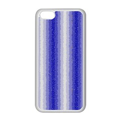 Dark Blue Curly Stripes Apple iPhone 5C Seamless Case (White)