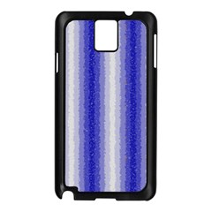 Dark Blue Curly Stripes Samsung Galaxy Note 3 N9005 Case (Black)