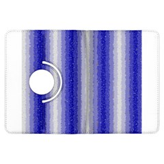 Dark Blue Curly Stripes Kindle Fire HDX Flip 360 Case