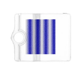 Dark Blue Curly Stripes Kindle Fire HDX 8.9  Flip 360 Case