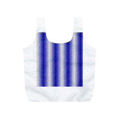 Dark Blue Curly Stripes Reusable Bag (S)