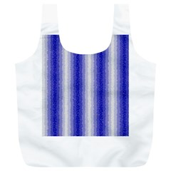 Dark Blue Curly Stripes Reusable Bag (xl)