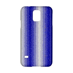 Dark Blue Curly Stripes Samsung Galaxy S5 Hardshell Case
