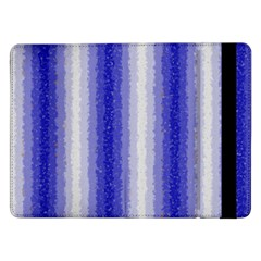 Dark Blue Curly Stripes Samsung Galaxy Tab Pro 12.2  Flip Case