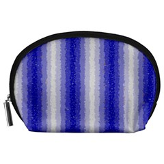 Dark Blue Curly Stripes Accessory Pouch (Large)