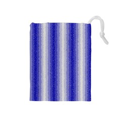 Dark Blue Curly Stripes Drawstring Pouch (medium)
