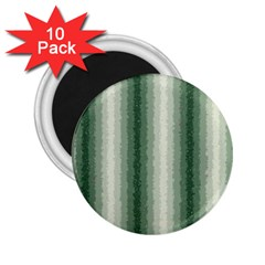 Dark Green Curly Stripes 2.25  Button Magnet (10 pack)