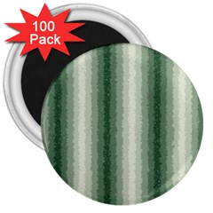 Dark Green Curly Stripes 3  Button Magnet (100 Pack)
