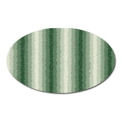 Dark Green Curly Stripes Magnet (oval)