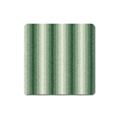 Dark Green Curly Stripes Magnet (square)