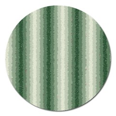 Dark Green Curly Stripes Magnet 5  (round)